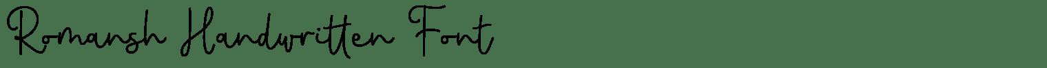 Romansh Handwritten Font
