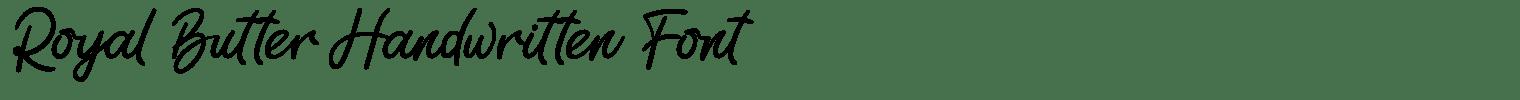 Royal Butter Handwritten Font