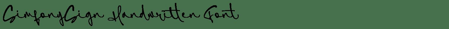 SimfonySign Handwritten Font