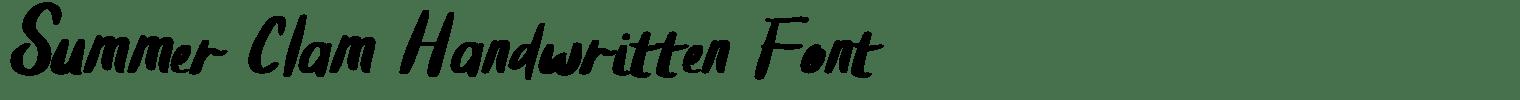 Summer Clam Handwritten Font