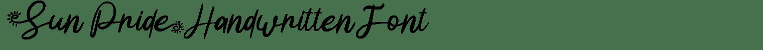 Sun Pride Handwritten Font