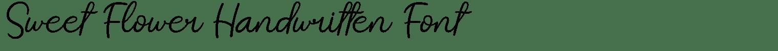Sweet Flower Handwritten Font