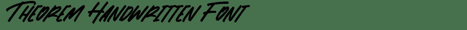 Theorem Handwritten Font