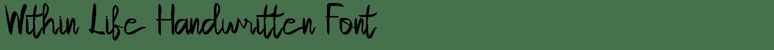 Within Life Handwritten Font