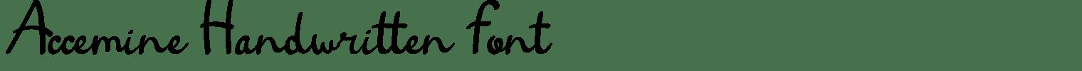 Accemine Handwritten Font
