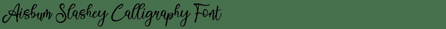 Aisbum Slashey Calligraphy Font