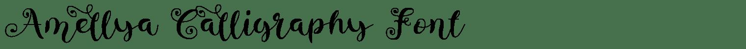 Amellya Calligraphy Font