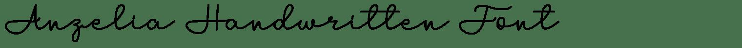 Anzelia Handwritten Font