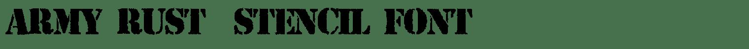 Army Rust – Stencil Font