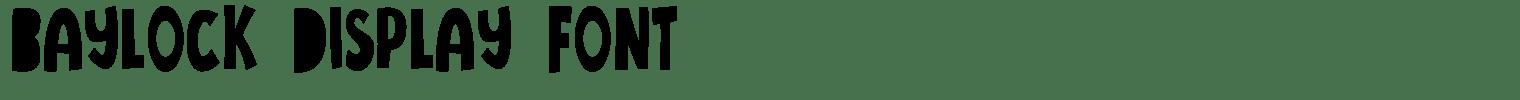 Baylock Display Font