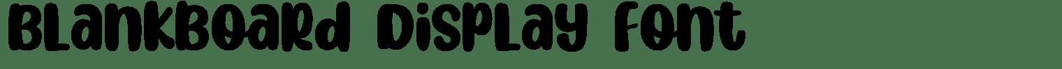 Blankboard Display Font
