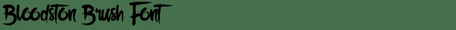 Bloodston Brush Font