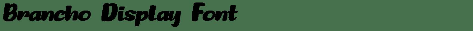 Brancho Display Font