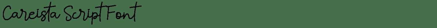Careista Script Font