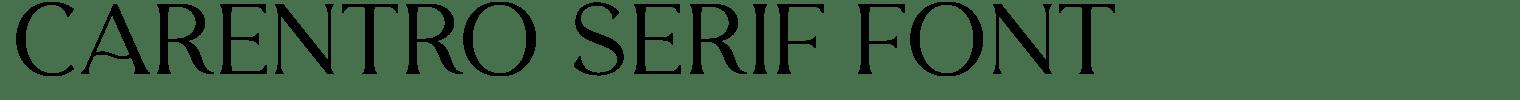 Carentro Serif Font