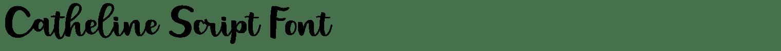 Catheline Script Font