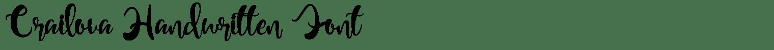 Crailova Handwritten Font