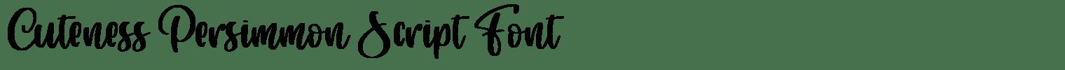Cuteness Persimmon Script Font