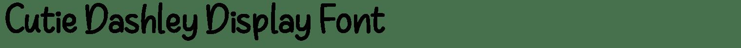 Cutie Dashley Display Font