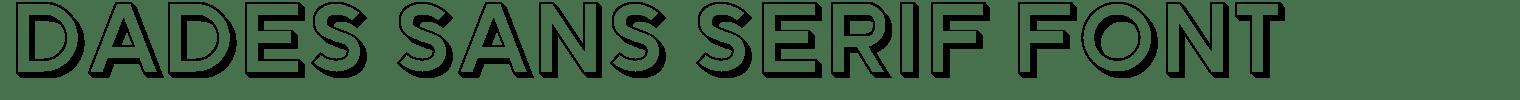 Dades Sans Serif Font