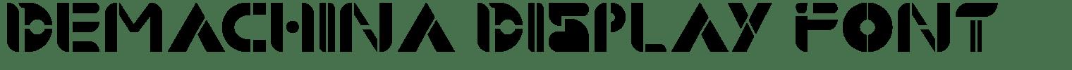 Demachina Display Font