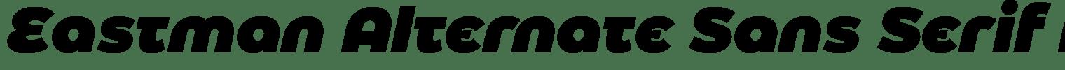 Eastman Alternate Sans Serif Font