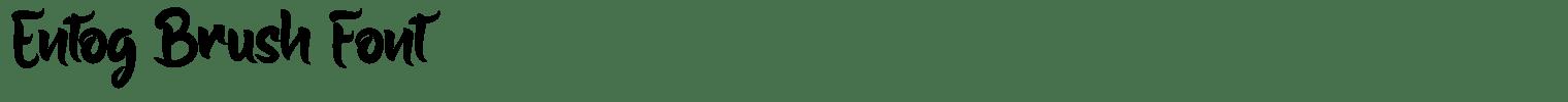 Entog Brush Font