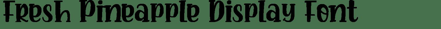 Fresh Pineapple Display Font