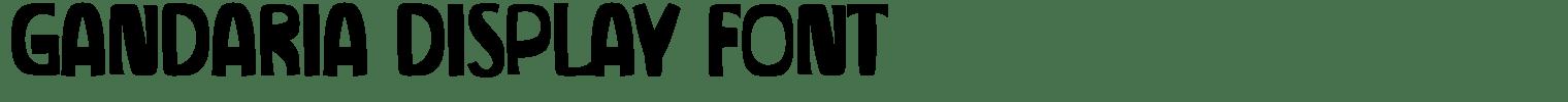 Gandaria Display Font