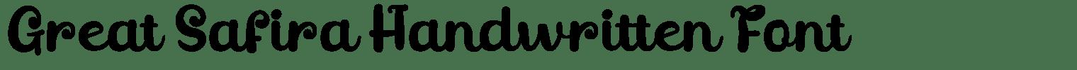 Great Safira Handwritten Font