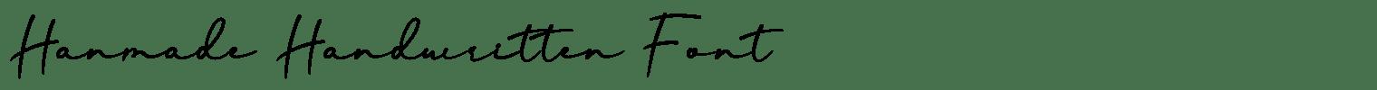 Hanmade Handwritten Font