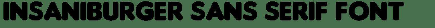 Insaniburger Sans Serif Font