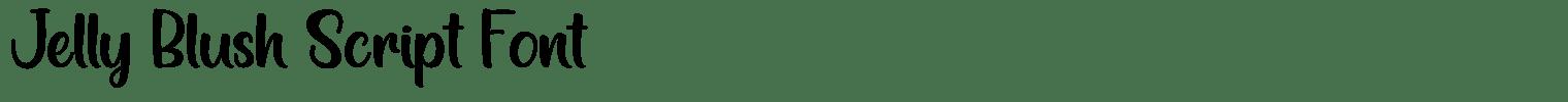 Jelly Blush Script Font