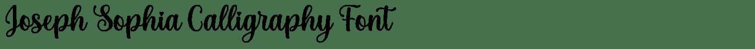 Joseph Sophia Calligraphy Font