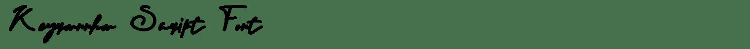 Keyrannha Script Font