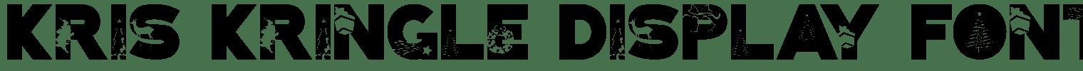 Kris Kringle Display Font