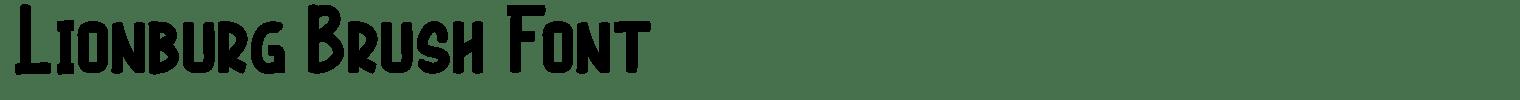 Lionburg Brush Font