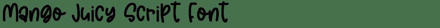 Mango Juicy Script Font