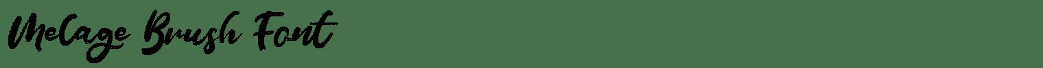 Melage Brush Font