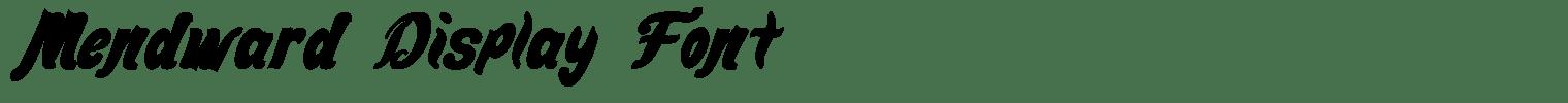 Mendward Display Font