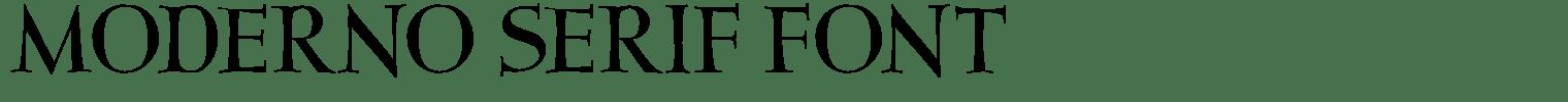 Moderno Serif Font