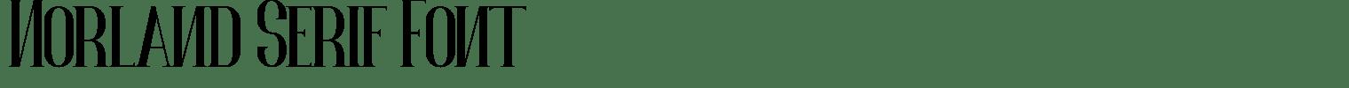 Norland Serif Font