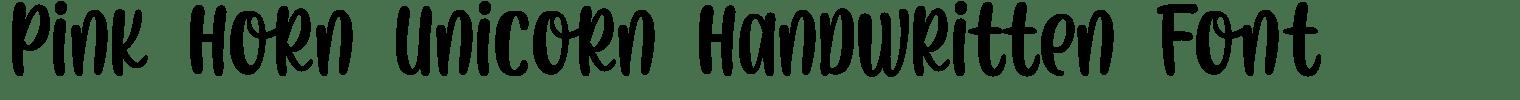 Pink Horn Unicorn Handwritten Font