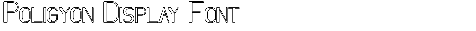 Poligyon Display Font