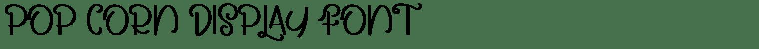 Pop Corn Display Font