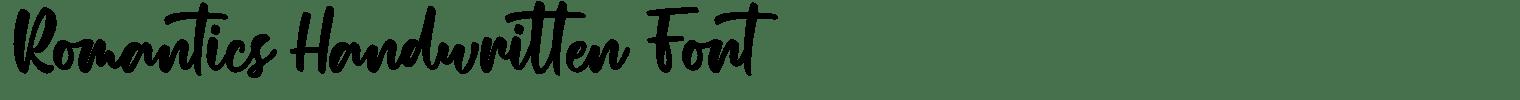 Romantics Handwritten Font