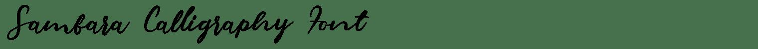 Sambara Calligraphy Font