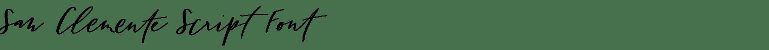 San Clemente Script Font