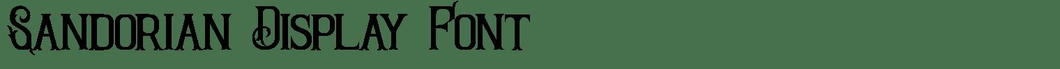 Sandorian Display Font
