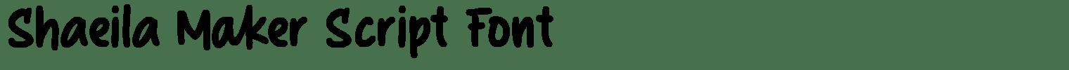 Shaeila Maker Script Font
